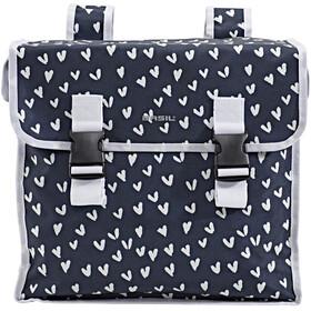 Basil Mara XL Gepäckträger Doppel-Tasche 35l heart dots